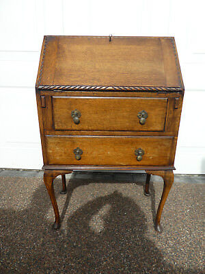 Vintage writing bureau with drop down leaf