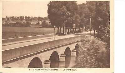 carte postale - (36) Indre - CPA - Chateauroux - Le Pont-Neuf