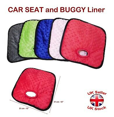 CHILD CAR SEAT and BUGGY Liner Soft Minky Pad Waterproof Potty Training