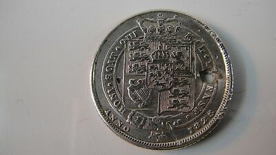 British sterling silver coin,sixpence,year 1825,King George IV.