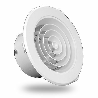 150mm Down Jet Diffuser Snap in White Plastic Ceiling for Ducted Heating Cooling