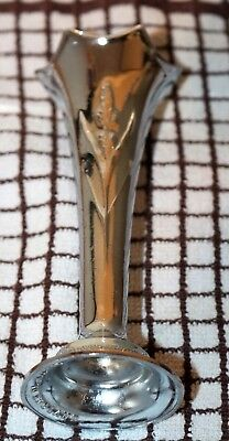 "Vintage Chrome Plated  Bud Vase ""made In England"" 5""high"