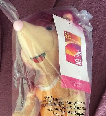 Hero The Hedgehog Mascot Soft Toy World Athletics London 2017 Brand New In Bag