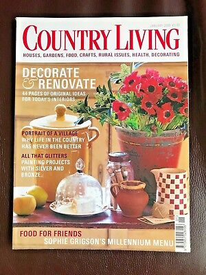 Country Living Magazine, January 2000, Decorate and Renovate, Painting Projects