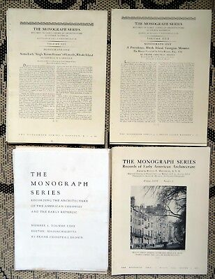 The Monograph Series-Early American Architecture-History- Photos-Rhode Island-Ma