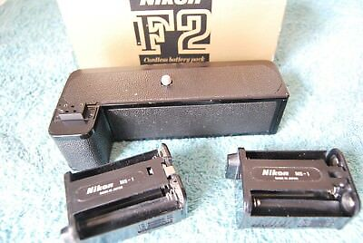 Nikon Early  F Style Leatherette MB-1 Boxed MD-2 MD-1 Motor Drive F2