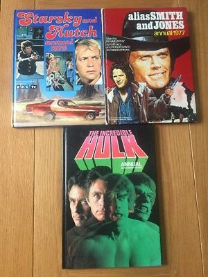 3 X TV Annuals: Starsky And Hutch / Alias Smith And Jones / The Incredible Hulk