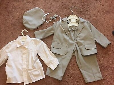 baby boy christening party outfit Suit 80cm 12-18 months with shoes