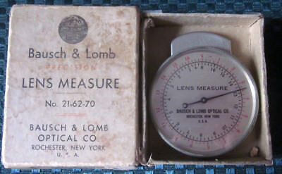 Vintage Baush & Lomb Lens Measure Spherometer