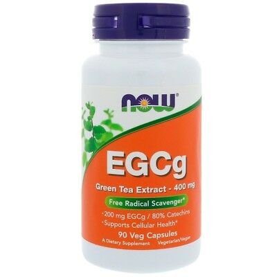 Now Foods, EGCg, Green Tea Extract, 400 mg, 90 Veg Capsules, Free Shipping