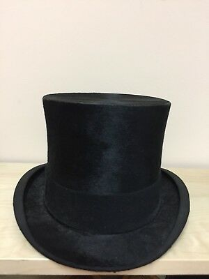 Vintage Black  Henry Heath Top Hat 1928 No box size 71/4