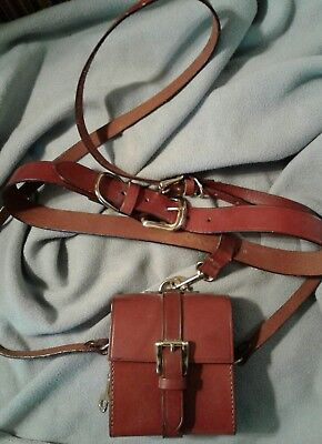 Vintage Joan & David Brown Leather Fanny Pack Belt with Purse Size M