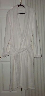 unisex RESTORATION HARDWARE  white plush terry cloth bathrobe sz xl robe belted