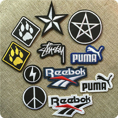 Sports Brand Logo Iron On Sew On Embroidered Patches Badge Transfer T-shirt Hat