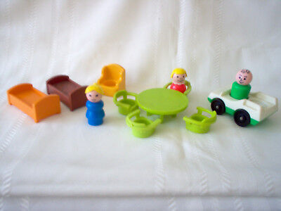 12-PIECE VINTAGE FISHER PRICE Little People 952 TUDOR HOUSE A-Frame ...