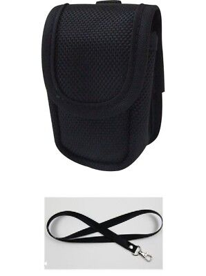 Finger Pulse Oximeter Soft Carry Case/Pouch & Lanyard - BLACK - NEW - UK STOCK!