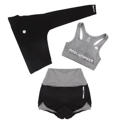 Women Sportswear Suit Tees Shirts Pad Bra Mini Short Breathable Quick Dry Shorts