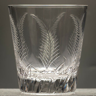 Stuart Crystal Ellesmere Large 12 oz Whisky Tumbler / Glass signed 1955-1968 1/5