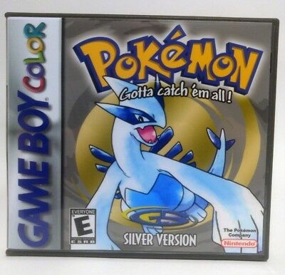 Pokemon Silver Version -GBC- Gameboy Color Custom Replacement CASE *NO GAME*