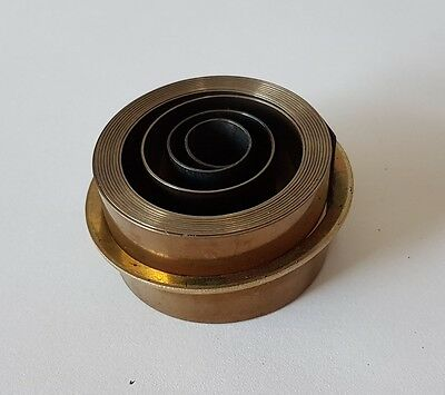 French & German Hole End Clock Mainspring Height 21 Force 0.46 Diameter 38