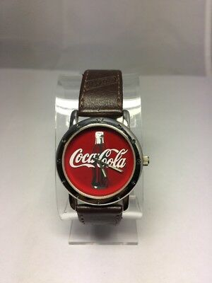 Unisex 34mm Case 2002 Coca Cola Wrist Watch New Battery