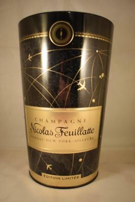 Nicolas Feuillatte French Champagne Metal Ice Bucket Wine Cooler Limited Edition