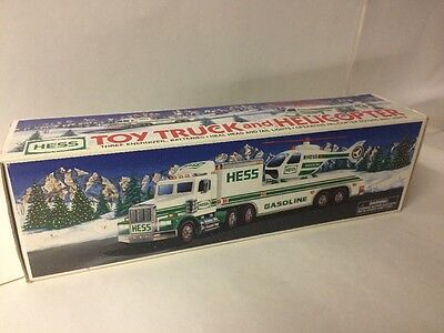 New VTG 1995 Hess Gasoline Fuel Truck Oil 1/32 Scale Promo Toy Helicopter