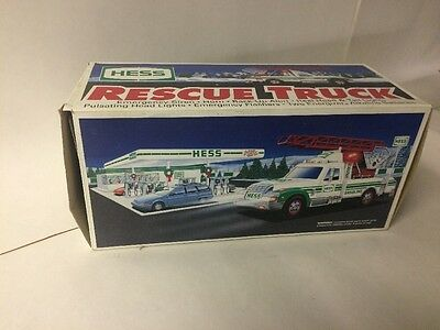 New VTG 1994 Hess Gasoline Fuel Truck Oil 1/32 Scale Promo Toy Rescue Truck
