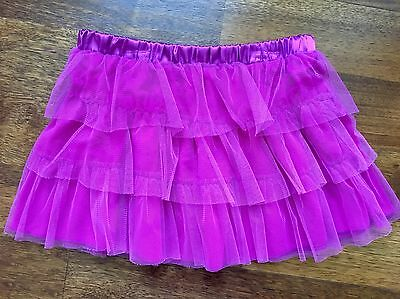 NEW Girls 10 12 Danskin Freestyle Purple Tulle Dance Ballet Tutu Skirt Cover Up