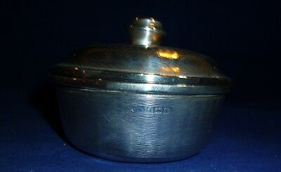 Solid Silver Bowl with a Cover, Birmingham 1948