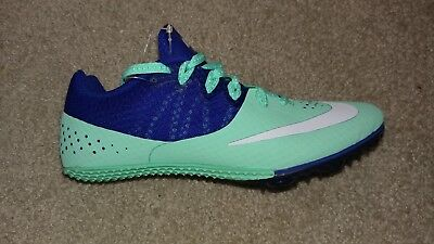 Nike Zoom Rival S 8 806558-801 Track Spikes Cleats Womens  NWOB sz 6 Blue green