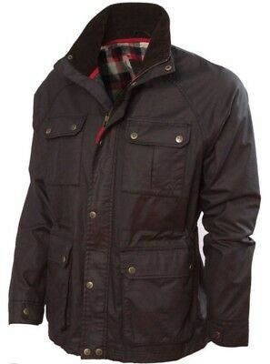 Vedoneire of Ireland Dark Brown Waxed Jacket Wax Coat Country Biker Men's M