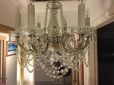 Antique Crystal Chandelier 6 lights