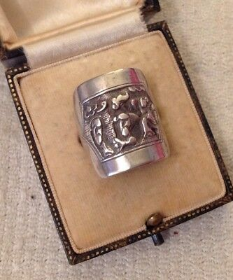 Antique Chinese Silver Ring With Hallmarks
