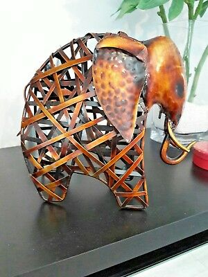 Lovely Metal Artwork elephant aprox 9 inches Tall
