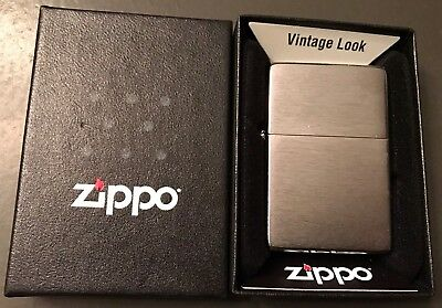 Zippo Windproof 1937 Vintage Series Brushed Chrome Lighter #230 - New In Box