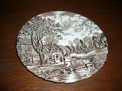 """One Vintage Johnson Bros Brothers Cotswold Brown 6 3/4"""" plate"""