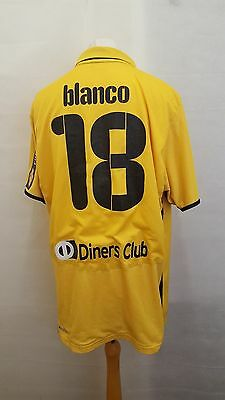 AEK Athens Greece Football Shirt Size XXL- Yellow & Black - #18 Ismael Blanco