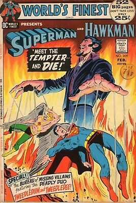 WORLD's FINEST 209 52 pages Superman and Hawkman by Fredrich Dillin and Giella