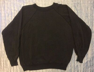 Vtg Raglan Sweatshirt Soft Thin 70s 80s Faded 50/50 Polycotton Shirt