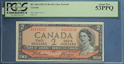 1954 - Bank of Canada - $ 2 - BC-30b  - Beattie-Coyne - Devil's Face