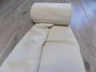 Antique homespun Linen Fabric 1920s White 7,8x0,45m Great condition Never used