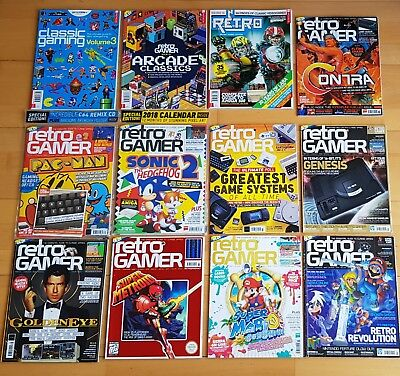 Retro Gamer magazines Bundle COLLECTERS editions 12 Mags
