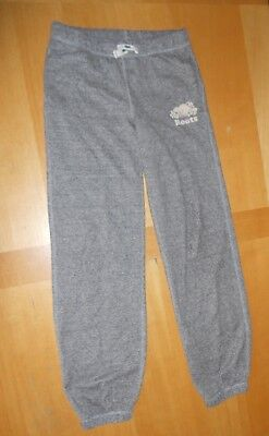 Roots Original salt & pepper gray Drawstring logo Sweatpants boy girl kids 14