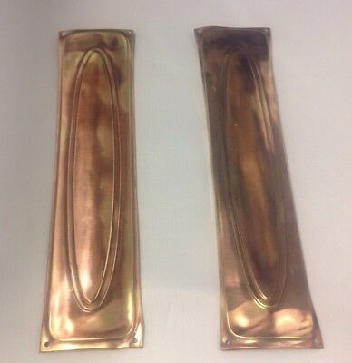 1 Pair of Vintage reclaimed  Brass Finger Plates