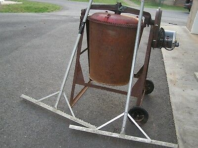 Used all steel Cement mixer with new motor and two aluminum cement rakes