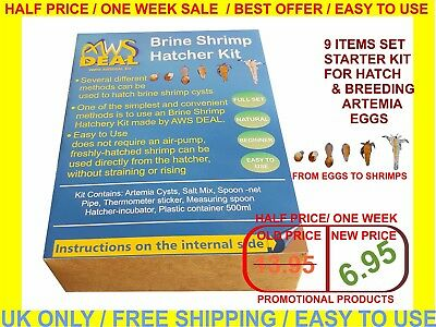 Brine Shrimp Hatcher Incubator / Aquarium Hatchery / Artemia Eggs Hatchery Kit