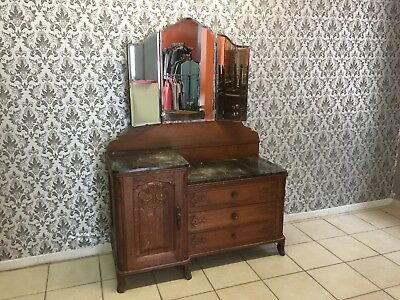 Dressing table Oak Louis XV, French style,Delivery possible, see description