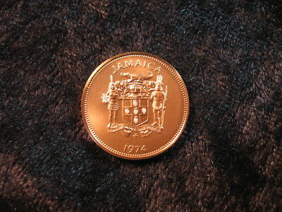 1 old world matte Proof coin JAMAICA 1 cent 1974 KM51 low mintage FREE S&H