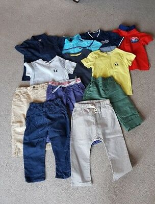 Baby Boys clothes bundle 18-24M. T-Shirts, Trousers,  shirt, polo tops, linens.